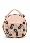 Flower Power Round Faux Leather Purse