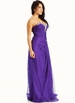 PURPLE Strapless Embellished Sweetheart Formal