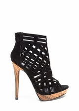 A Cut Above Caged Wood Heels