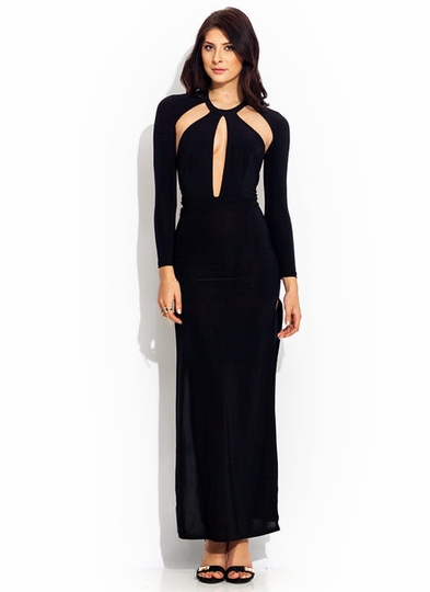 A Cut Above Open-Back Maxi