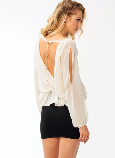 A Cute Triangle Draped Top