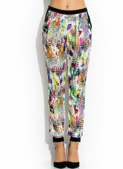 Abstract Act Silky Pants