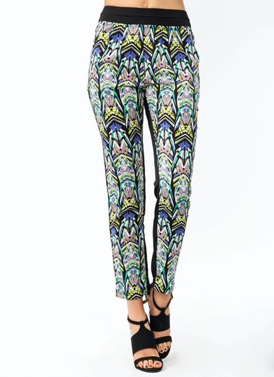 Abstract Artsy Pleated Lounge Pants