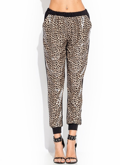 All Faux You Leopard Joggers