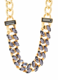 All In Almond Jeweled Necklace