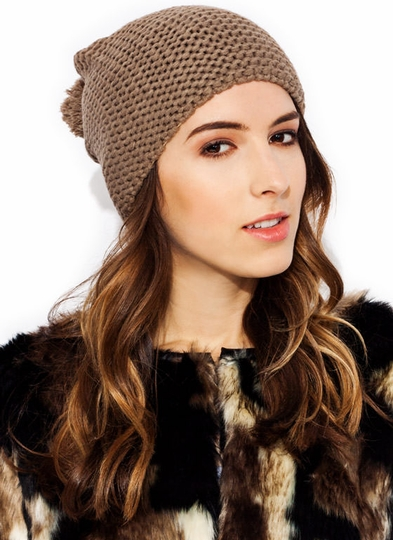 All Knit Up Pom-Pom Beanie