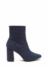 All Squared Away Denim Booties