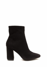 All Squared Away Faux Suede Booties
