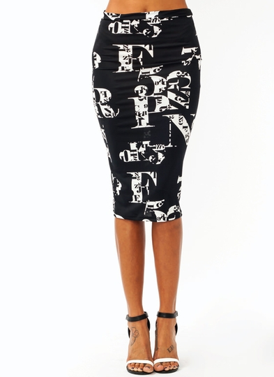 Alphabet Soup Pencil Skirt