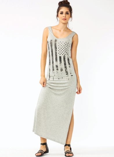 American Flag Graphic Maxi Dress