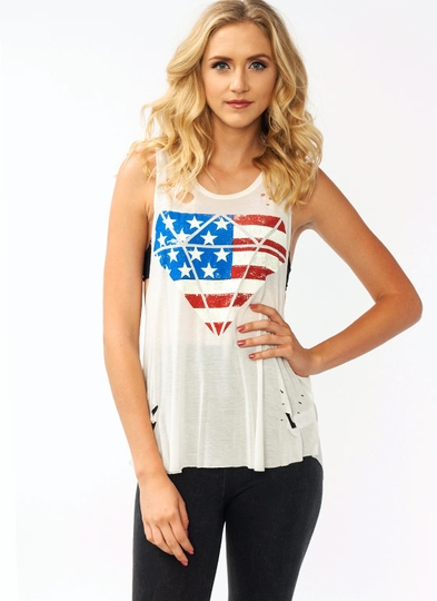American Jewel Distressed Tank