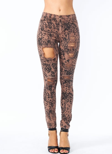 Animal Instinct High-Waisted Jeans