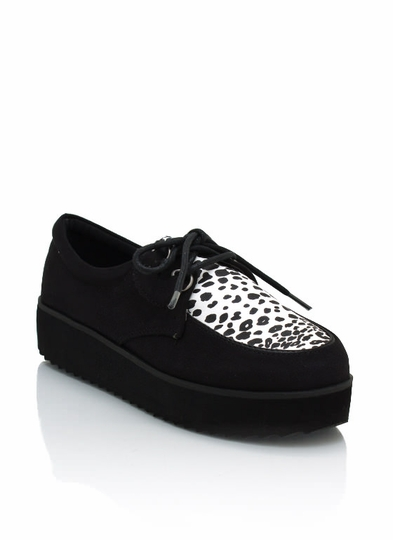 Animal Print Faux Suede Creepers
