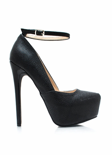 Rough You Up Ankle Strap Pumps