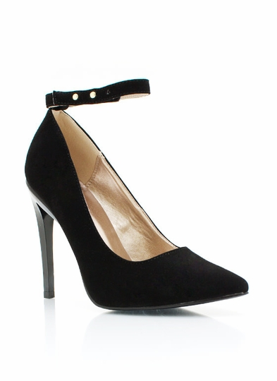 Ankle Strap Single-Sole Heels