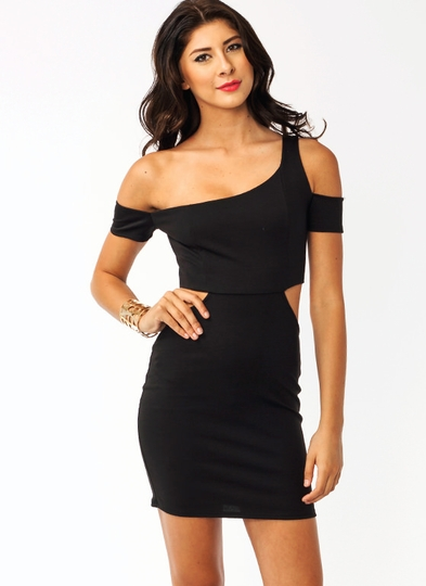 Asymmetrical Cut-Out Dress