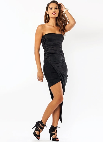 Asymmetrical Draped Dress