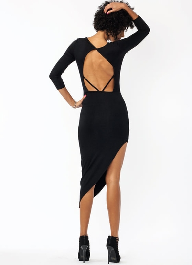 Back In The Game Draped Dress