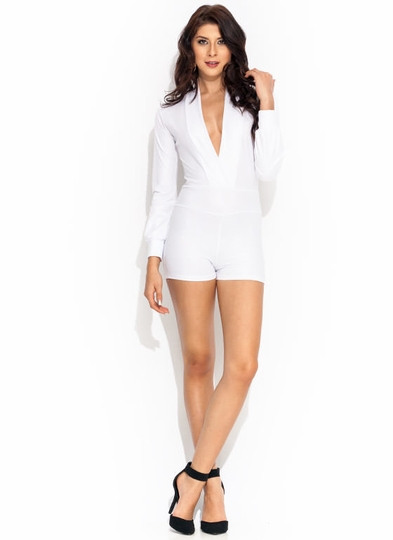 Bad Girl Faux Leather Romper