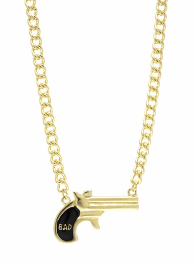 Bad Girl Gun Necklace