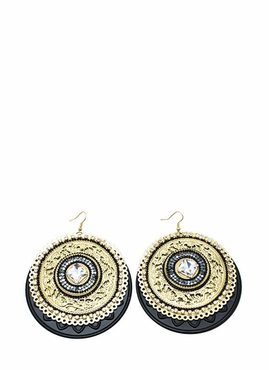 Baroque Medallion Earrings