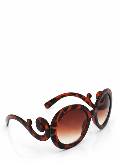 Baroque Swirl Arm Sunglasses