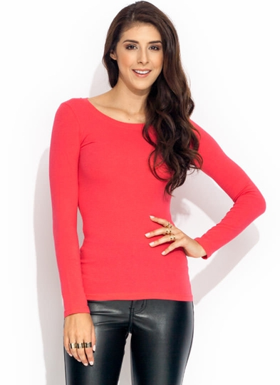 Basic Babe Crew Neck Tunic Tee