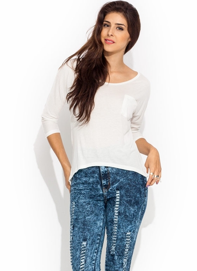 Basic Babe High-Low Tee