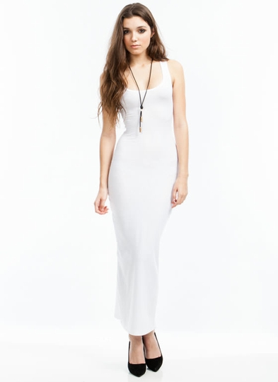 Basic Ribbed Maxi Dress