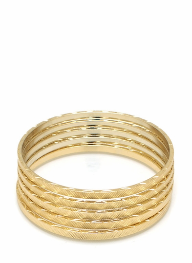 Basic Textured Bangle Set