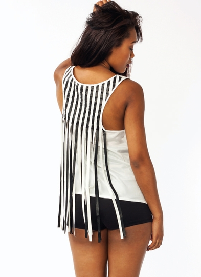 Basket Weave Faux Leather Tank