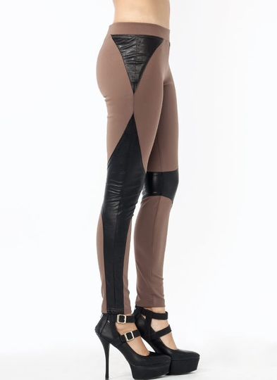 Battle Station Faux Leather Leggings
