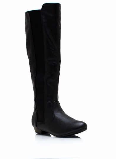 Battlestar Faux Leather Boots