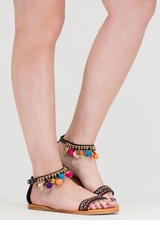 Be-Leaf In You Charm Tribal Sandals