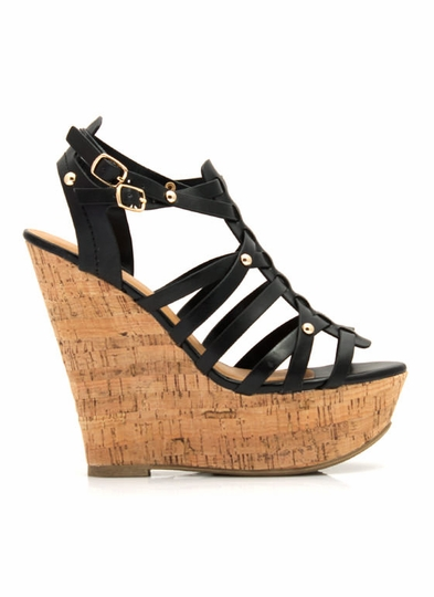 Be Strappy Cork Wedges