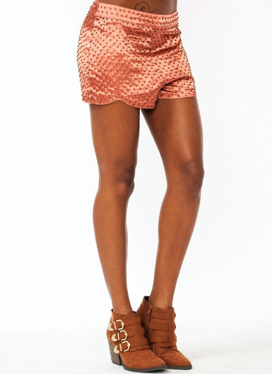 Beaded Sateen Shorts