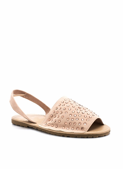 Bedazzled Slingback Sandals