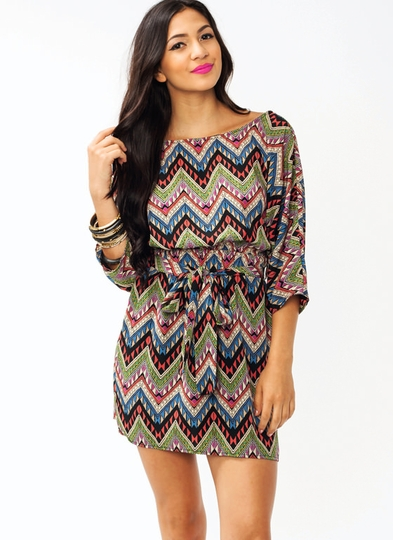 Belt It Out Zigzag Dress