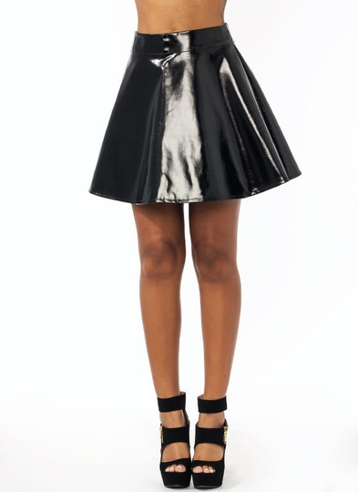 Better In Vinyl Skater Skirt