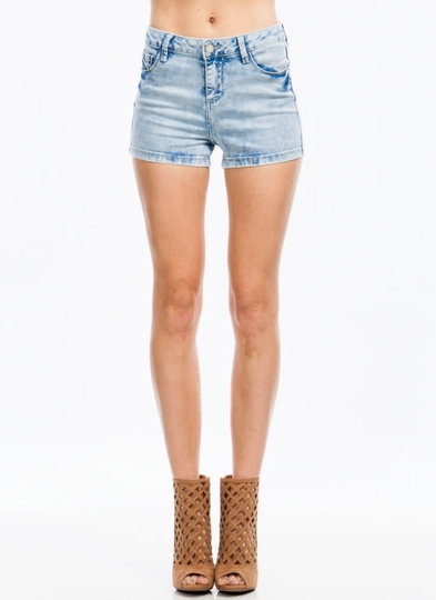 Bleach Bunny High-Waisted Jean Shorts
