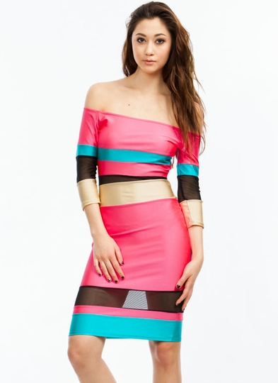 Bold Move Bodycon Dress