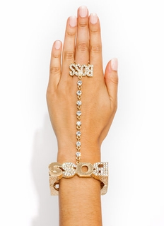 Bossed Around Town Hand Bracelet