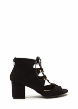 Bound For Greatness Lace-Up Block Heels