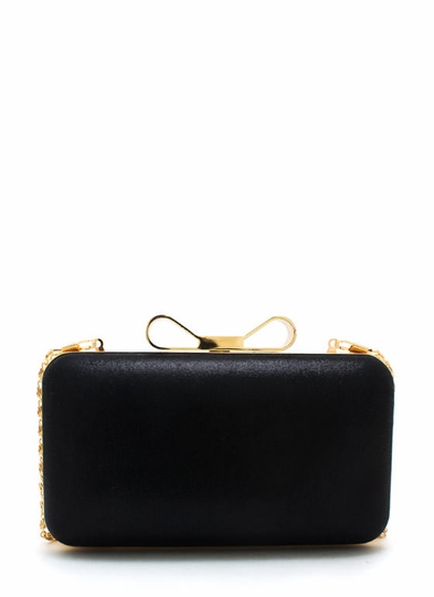 Bow Around Town Box Clutch