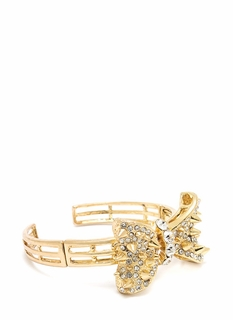 Bow On Spike Jeweled Cuff
