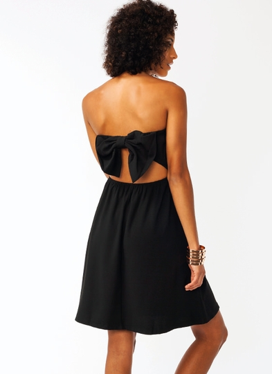 Bow-tiful Strapless Dress