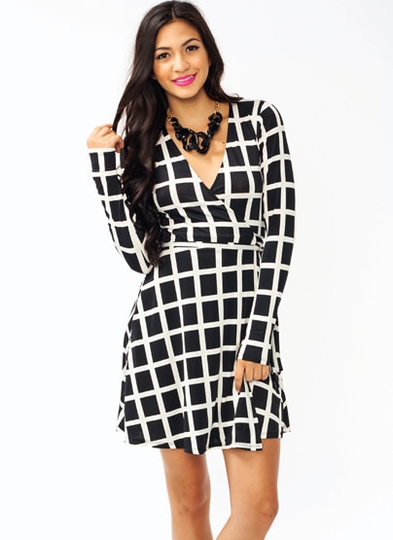 Boxy Babe Wrap Dress