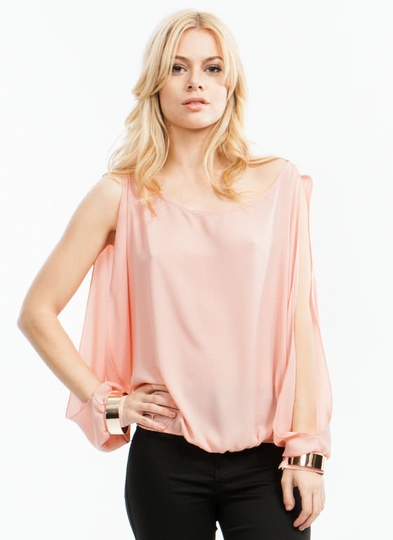 Brace Yourself Slit Sleeve Blouse