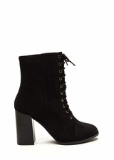 Bring It On Chunky Lace-Up Booties