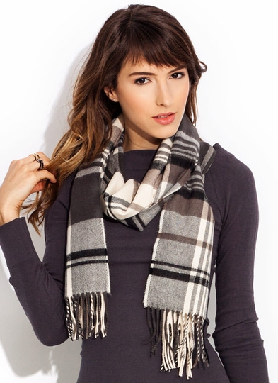 Brushed Flannel Plaid Scarves